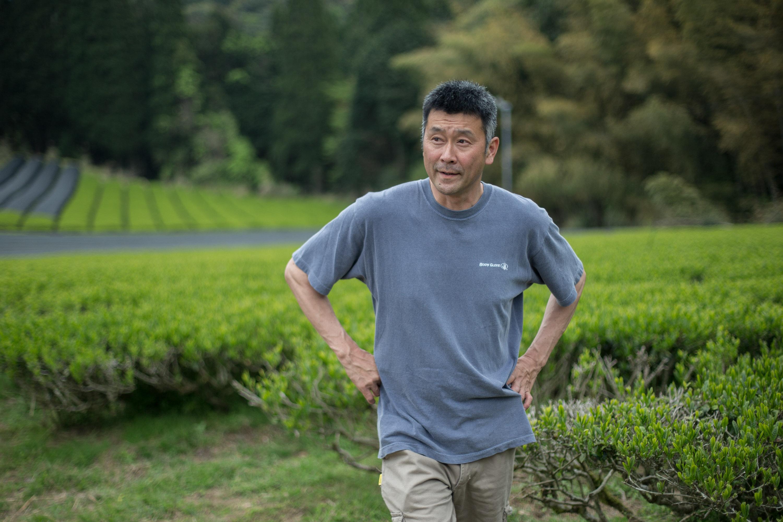 Kazuya Matsumoto in seinem Teegarten