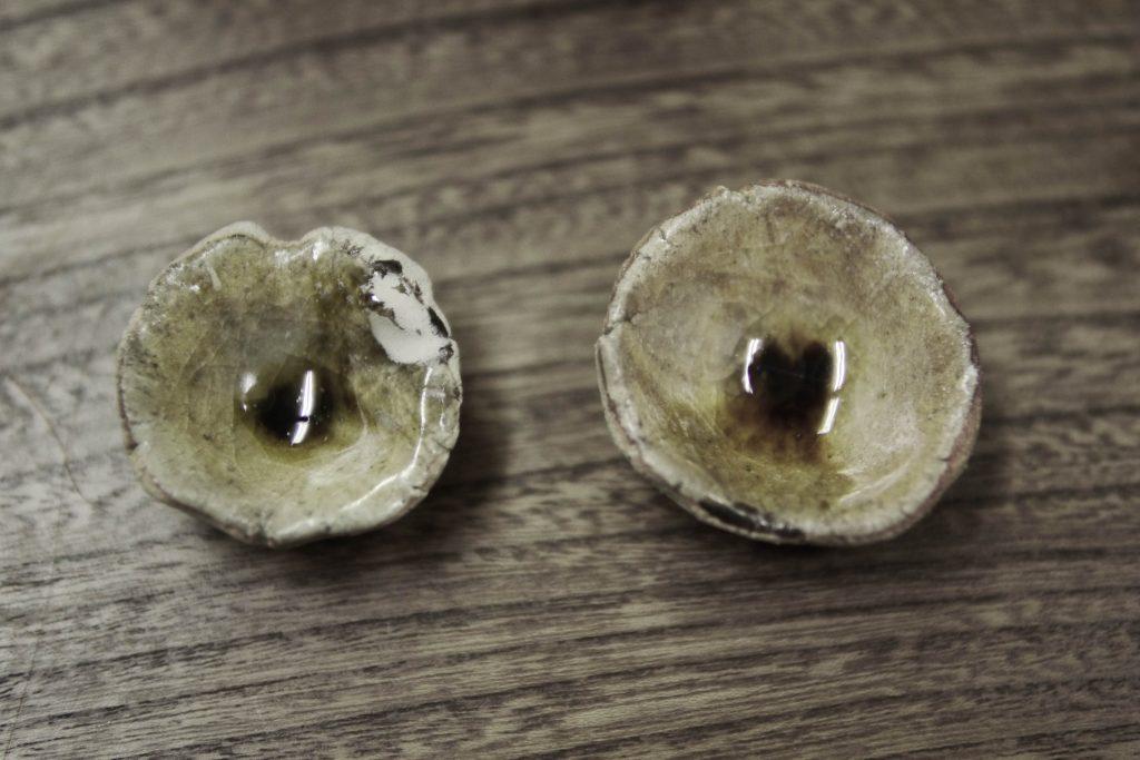 Vergleich von einer Glasur in zwei Brennverfahren von KATO Juunidai