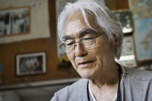 Narieda Shinichiro in seinem Atelier in Kirishima